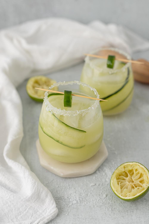 jus épluchure de concombre citron menthe